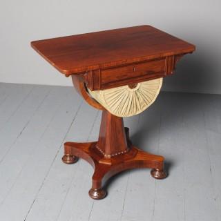 Antique William IV Rosewood Work Table
