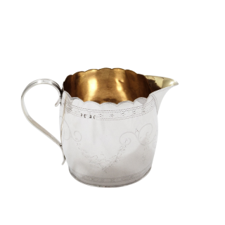 Antique Georgian Sterling Silver Jug 1795