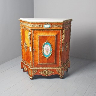 Antique Louis XVI Style Kingwood and Marble Cabinet