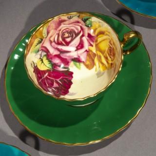 Vintage Aynsley Porcelain Fruit and Roses Tea Set, by JA Bailey and D Jones