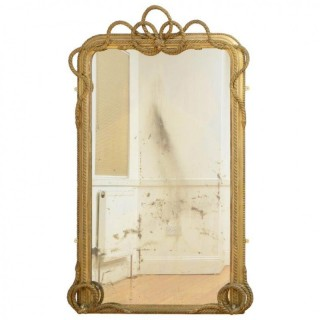 Victorian Giltwood Leaner or Wall Mirror