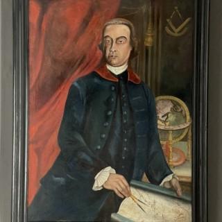 18th Century Oil on canvas portrait painting