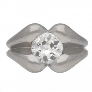 Diamond solitaire ring, circa 1940.