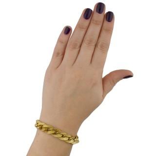 Hermes gold textured bracelet, French, circa 1960.