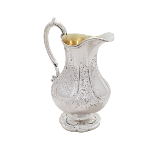 Antique Victorian Sterling Silver Jug 1854