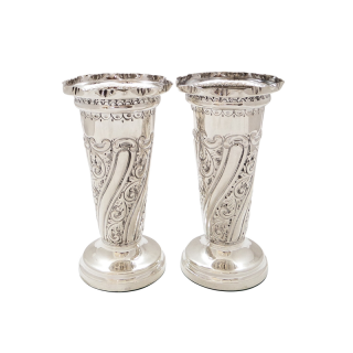 Pair of Antique Victorian Sterling Silver 5 1/2