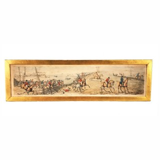 Nicholas Parsons Collection – 19th Century Equestrian Etching 'Panorama of a Fox Hunt' by Henry Thomas Alken