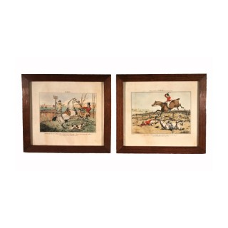 Nicholas Parsons Collection – Pair of Equestrian Hunting Scene Engravings by Henry Thomas Alken