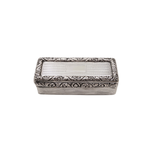 Antique Georgian Sterling Silver Snuff Box 1827