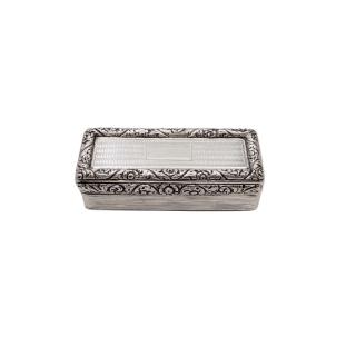 Antique Georgian Sterling Silver Snuff Box 1827