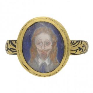 Charles I memorial skull ring, English, circa 1650.