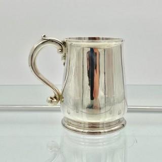 Antique George II Sterling Silver Pint Mug London 1728 Edward Vincent