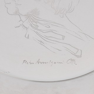 Silver Plate Commemorating the Royal Marriage of Princess Anne and Mark Phillips