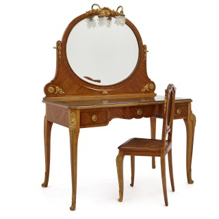 Antique Parisian Neoclassical Style Dressing Table Set by Au Gros Chêne