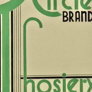 Circle Brand Hosiery - 1930s Graphic Design