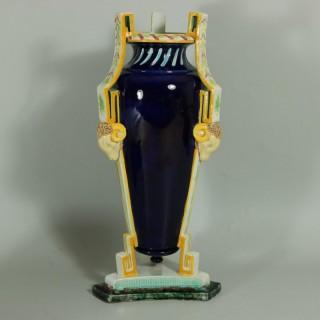 George Jones Majolica Rams Head Vase