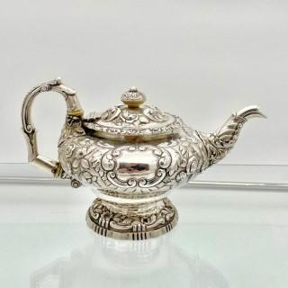Antique George IV Sterling Silver Teapot London 1824 John Craddock & William Reid