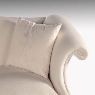 A Well Shaped Early 20th Century Hepplewhite Style Camelback Sofa