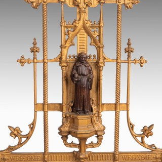 A Complex Mid 19th Century Cast Iron Hall / Stick Stand