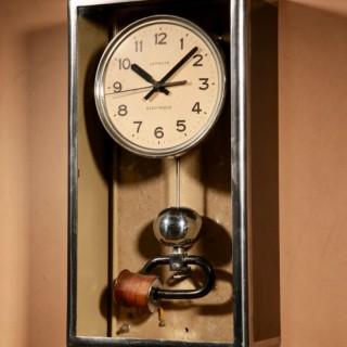 Art Deco Lepaute Very Interesting Electrical Wall Clock.
