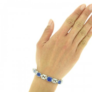Art Deco sapphire and diamond bracelet, circa 1935.