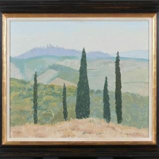 'San Gimignano in the Distance' by Luke Dillon-Mahon (1917-1997)