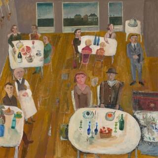 'The Restaurant' by Simon Quadrat PPRWA NEAC (born 1946)