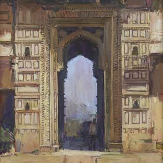 'An Archway at the Palace, Bundi, Rajasthan' by Luke Martineau (born 1970)