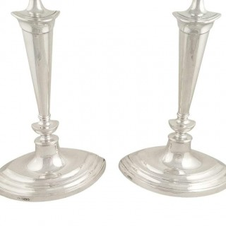 Pair of Antique Sterling Silver 12
