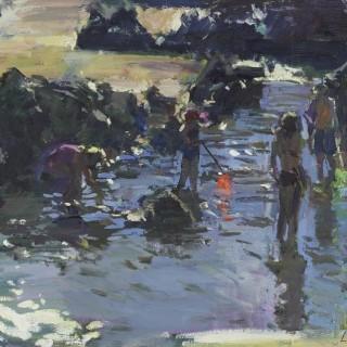 'In the Rock Pools' by Luke Martineau (born 1970)