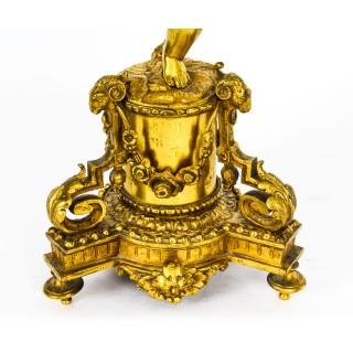 Antique French Ormolu Cherub Table Lamp Louis XVI Style c.1900