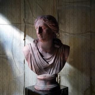 A Massive 19thC French Terracotta Bust of Niobe