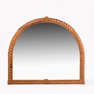 An Attractive Mid 19th Century Giltwood Overmantle Mirror