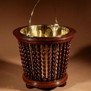 A Beautiful Mahogany Tea Stove Bucket/Peat Bucket Jardinière.