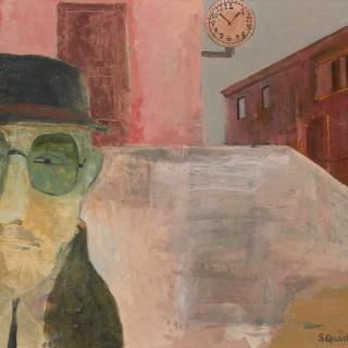 'Man in Dark Glasses' by Simon Quadrat PPRWA NEAC (born 1946)