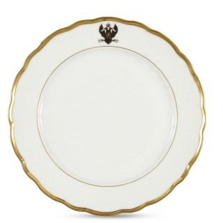 Set of Antique Kornilov Porcelain Imperial Russian Navy Plates