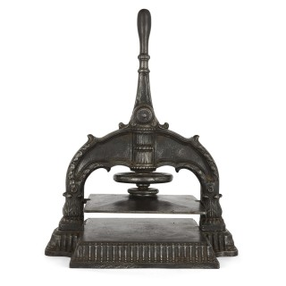 Antique 19th Century French Cast Iron Book Press