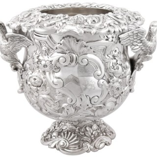 Sterling Silver Wine Cooler - Antique George III