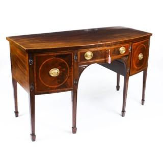 Antique George III Inlaid Flame Mahogany Sideboard 18th Century
