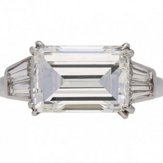 Van Cleef & Arpels diamond emerald-cut ring, French, circa 1970.