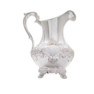 Antique Victorian Sterling Silver Jug 1844
