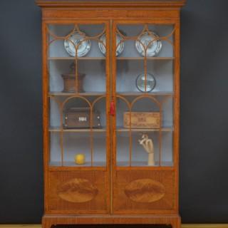 Fine Edwardian Satinwood Display Cabinet