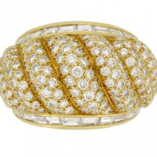 Van Cleef & Arpels vintage diamond dress ring, French, circa 1950.