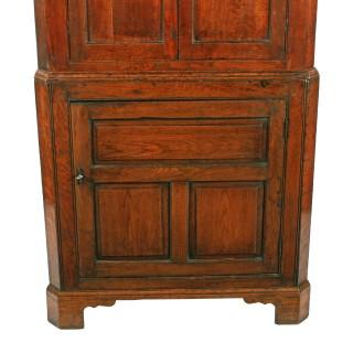 Georgian Oak Double Corner Cupboard