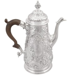Sterling Silver Coffee Pot - Antique George II (1748)