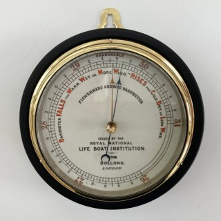 Victorian RNLI Fishermans Aneroid Barometer by Dollond of London