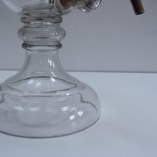 Large Glass Brandy Dispenser or Brandy Fountain for Benskins Brewery Watford.