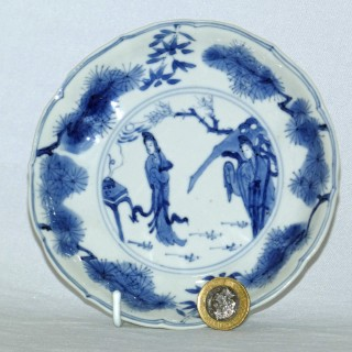 Kangxi Blue and White Porcelain export ware Plate