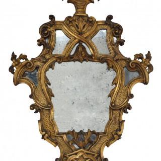 Pair of large giltwood mirrors, Louis XVI style, Italian late 19th century