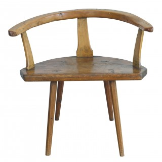 Unusual pine and beech primitive chair, Swiss. early 19th century